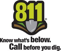 811, Know what's below. Call before you dig.