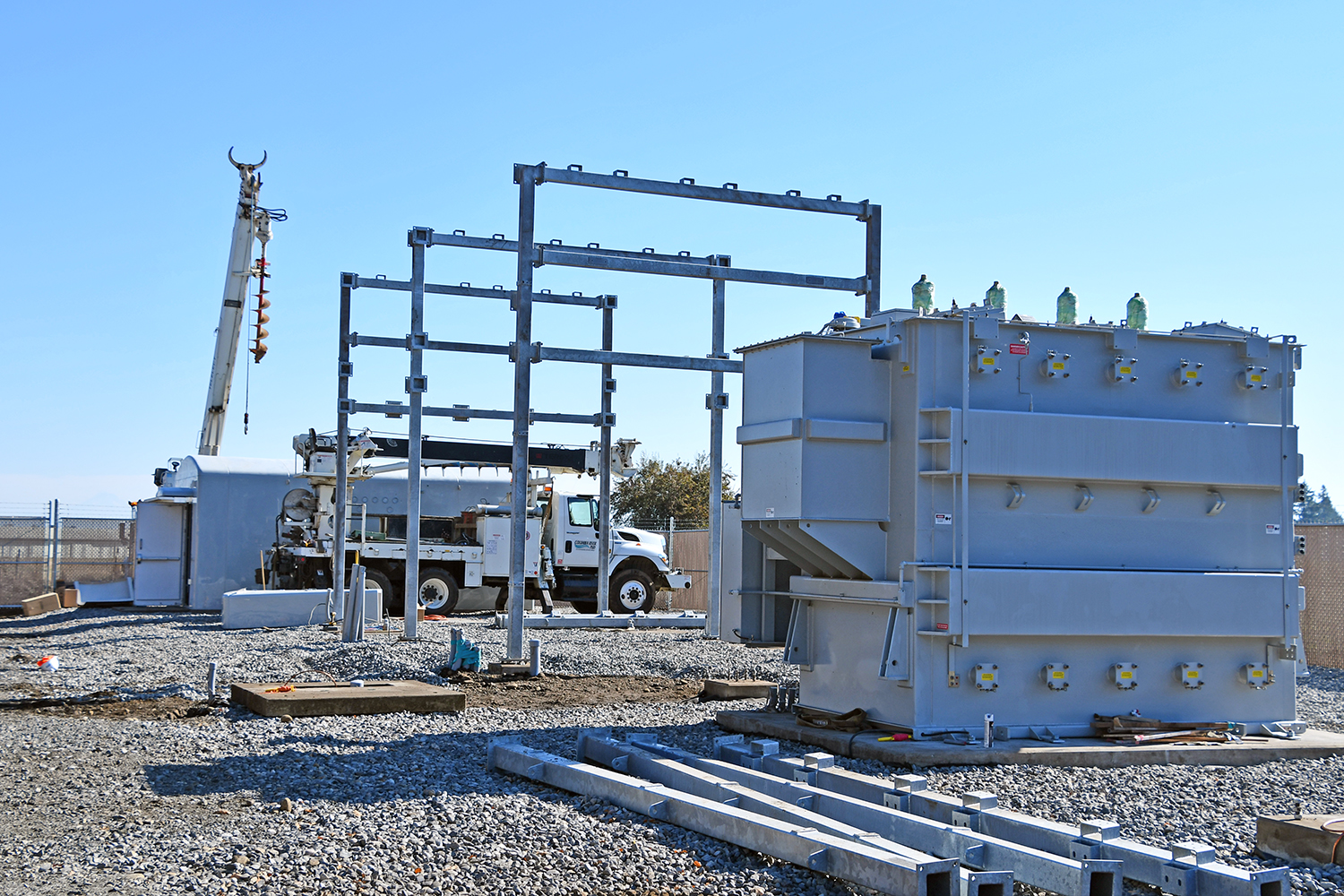 The new Betsy Johnson Substation is under construction.