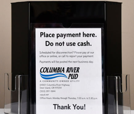 A PUD payment drop box.