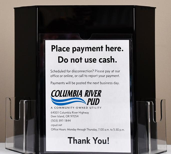 A PUD payment drop box.