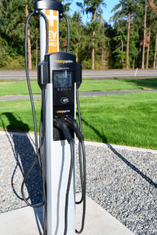 The Dual Level-2 Charging Station at Columbia River PUD.