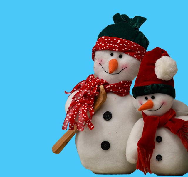 Two stuffed snowmen