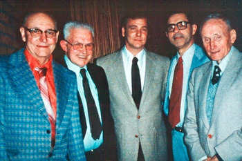 The 1984 CRPUD Board of Directors: Don Nys, Wes Kimble, Stephen Spinden, Richard Sahagian, and Arnold Tarbell.