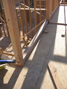 Framing construction of new residential home